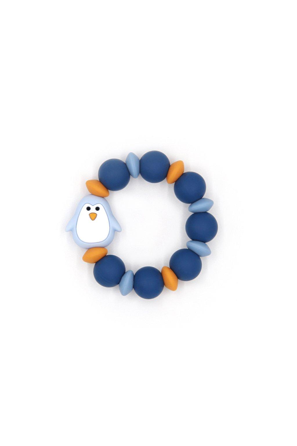 Mimijo silikonové kousátko Modrý Tučňák