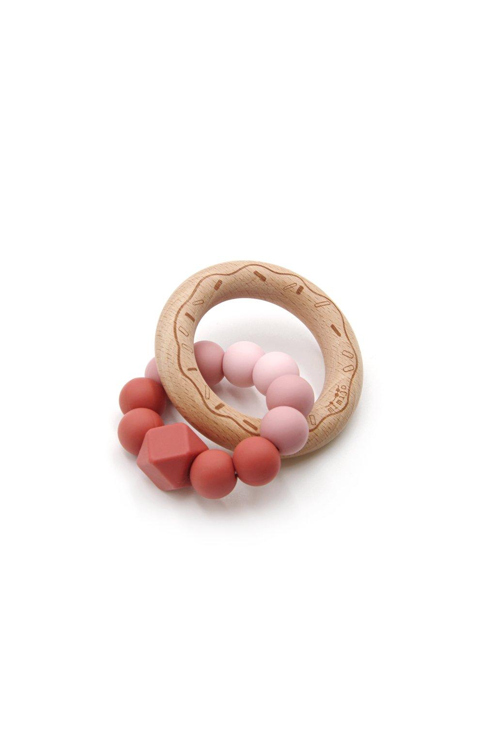 Mimijo silikonové kousátko Scarlett donut