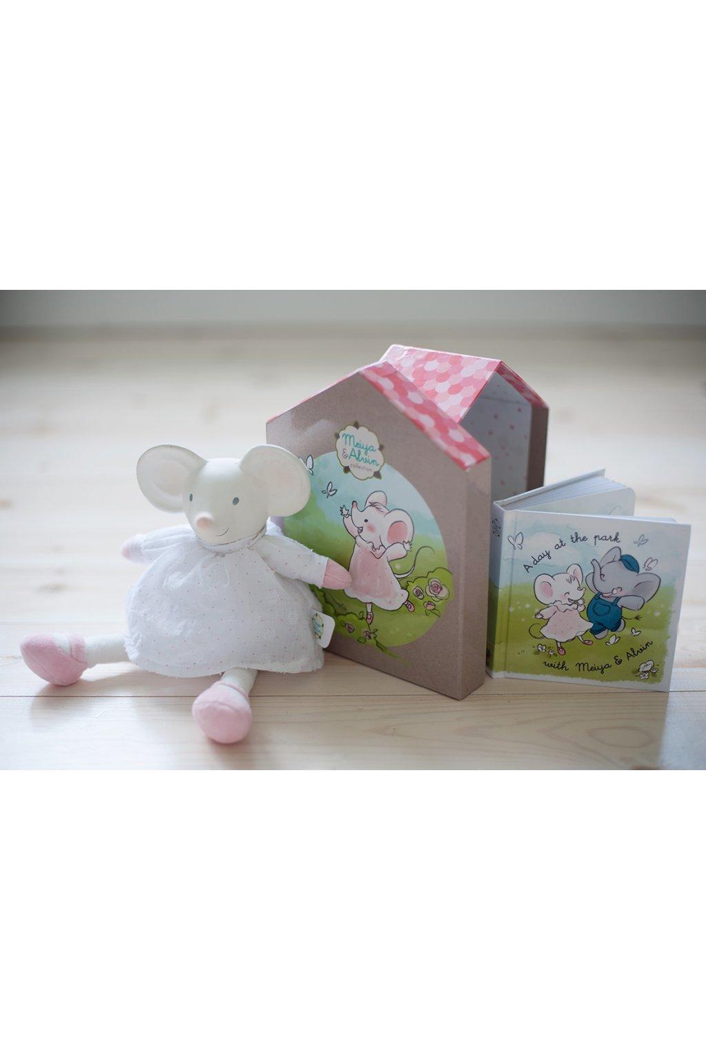 Dárkový set DELUXE knížka + hračka myška Meiya