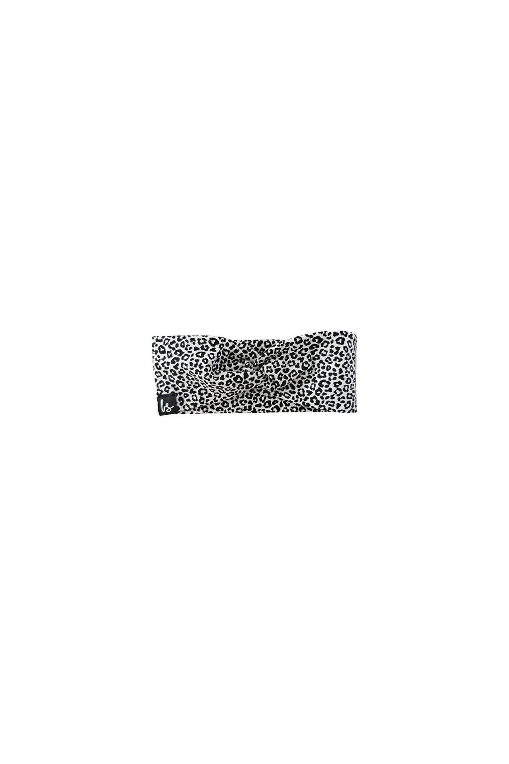 twist haarbandje luipaard small wit babystyling