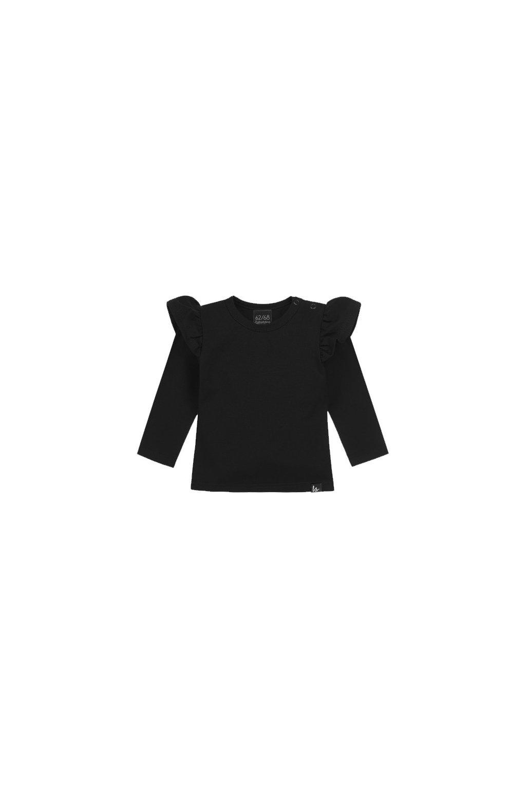 ruffle longsleeve zwart babystyling (1)