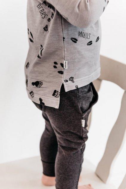 WUF KIDS chlapecké kalhoty s kapsami - tmavě šedě