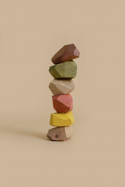 Min Min Copenhagen dřevěný balanční kameny