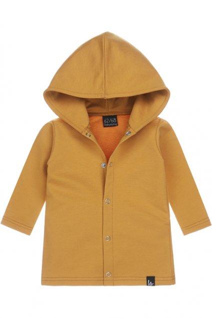 capuchon vest oker lang babystyling (1)