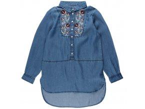 Modrá košeľa Freya s kvetmi Small rags