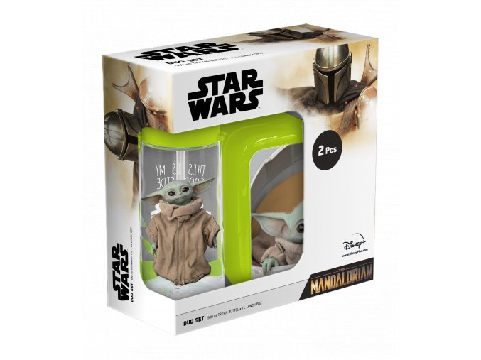 Desiatový box + fľaša Baby Yoda