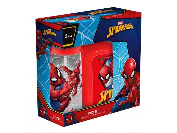 Desiatový box + fľaša Spiderman