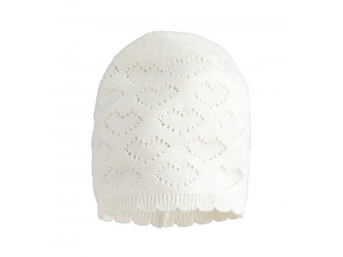 Čepička pletená bílá Minibanda
