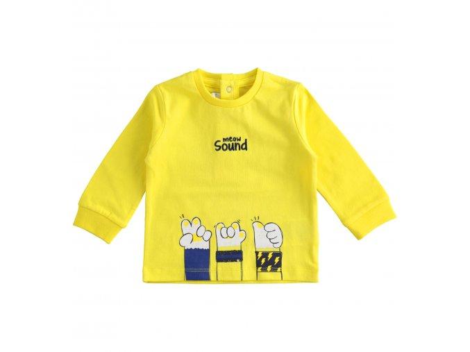Triko s dlouhým rukávem žlutá Minibanda