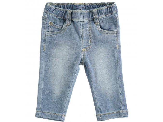 Džíny s gumou v pase světle modré Minibanda