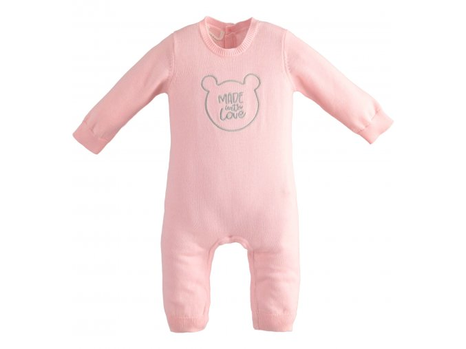 Overal bez šlapek s medvídkem růžová Minibanda