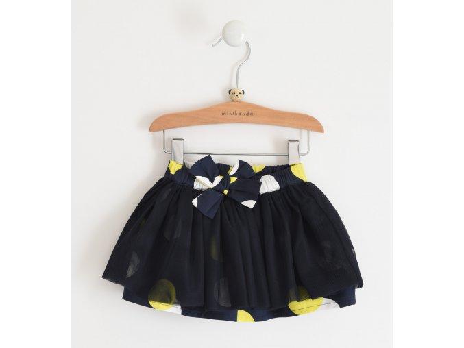 Sukně s puntíky a mašlí tmavě modrá Minibanda