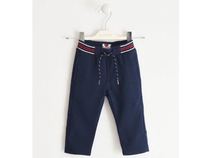 Kalhoty tkané tmavě modré Sarabanda