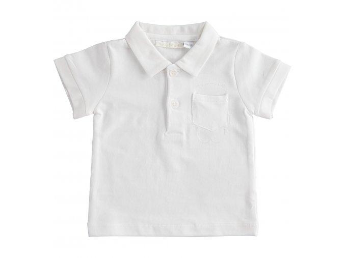 Triko polo krátký rukáv bílá Minibanda
