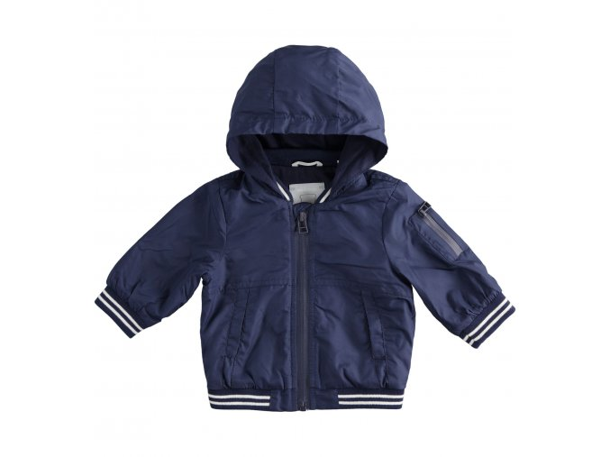 Bunda s kapucí modrá Minibanda