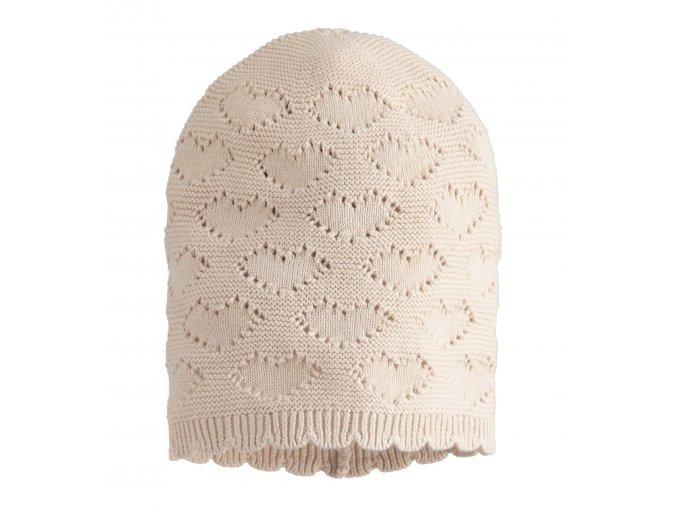 Čepice pletená béžová Minibanda