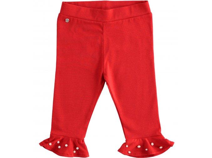 Legíny s perlami červené Sarabanda