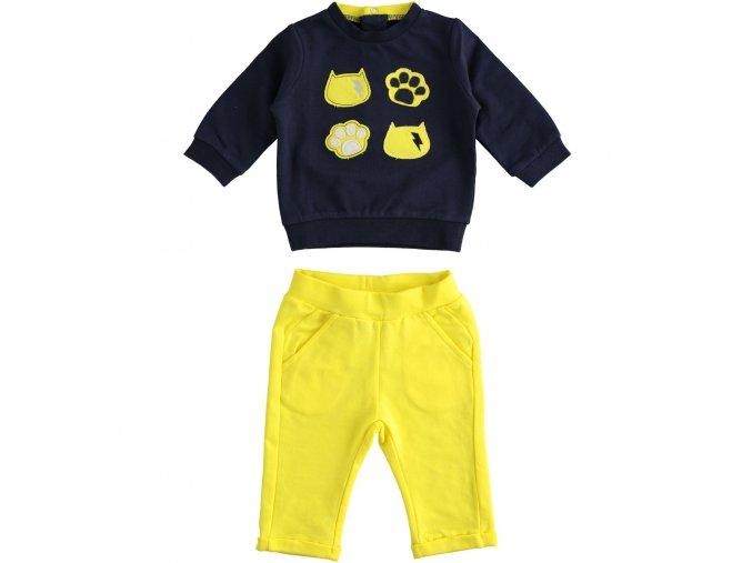Tepláková souprava Tomcat modro-žlutá Minibanda