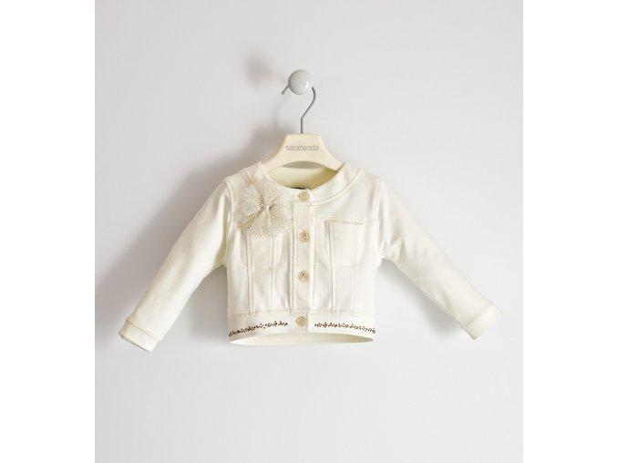 Lehká bunda s dlouhým rukávem a zapínání na knoflíky krémová bílá Sarabanda