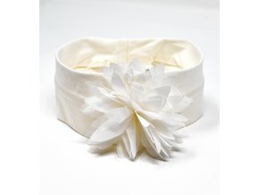 Čelenka s květinou bílá Minibanda