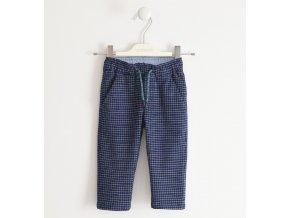 Kalhoty plátěné kostkované tmavě modré Sarabanda