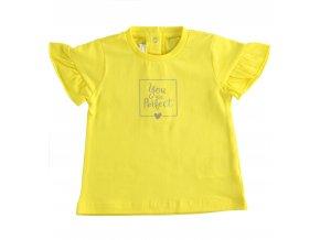 Triko s krátkým rukávem U are perfect žlutá Minibanda