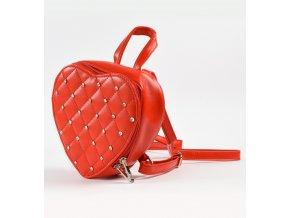 Červený batůžek Sarabanda ve tvaru srdce