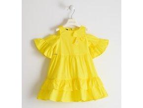 Šaty letní tkané s odlehčenými rukávy žlutá Sarabanda