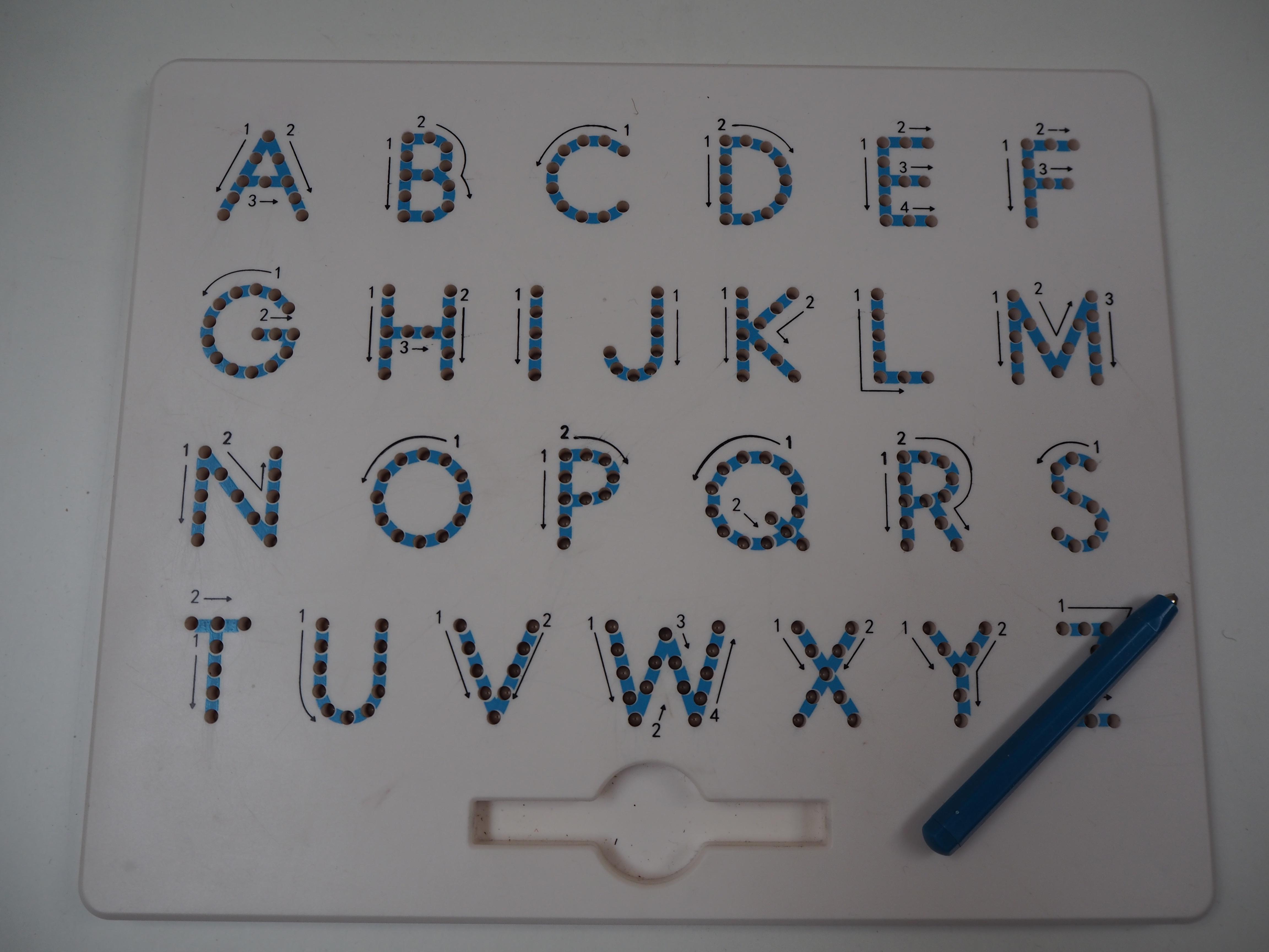 Originální magnetické psaní – písmena, číslice