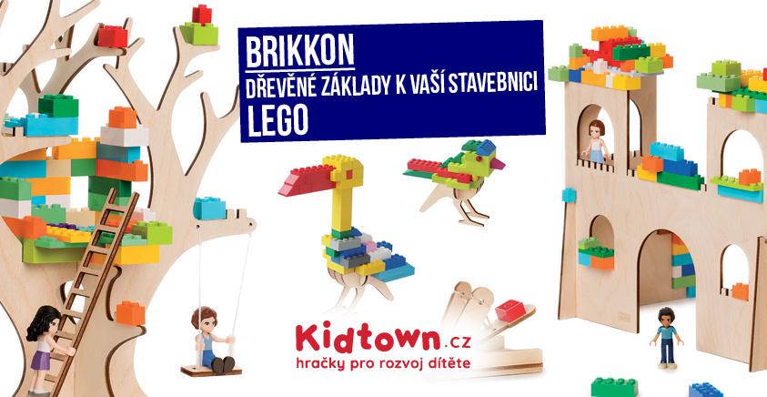 Brikkon dřevěné základy k lego