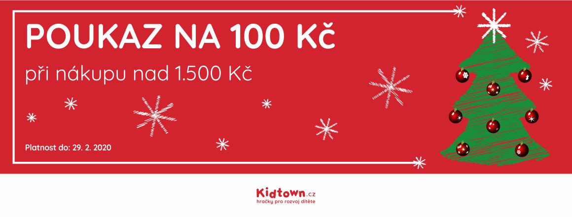 Poukaz na slevu 100 Kč na další nákup při nákupu nad 1500 Kč