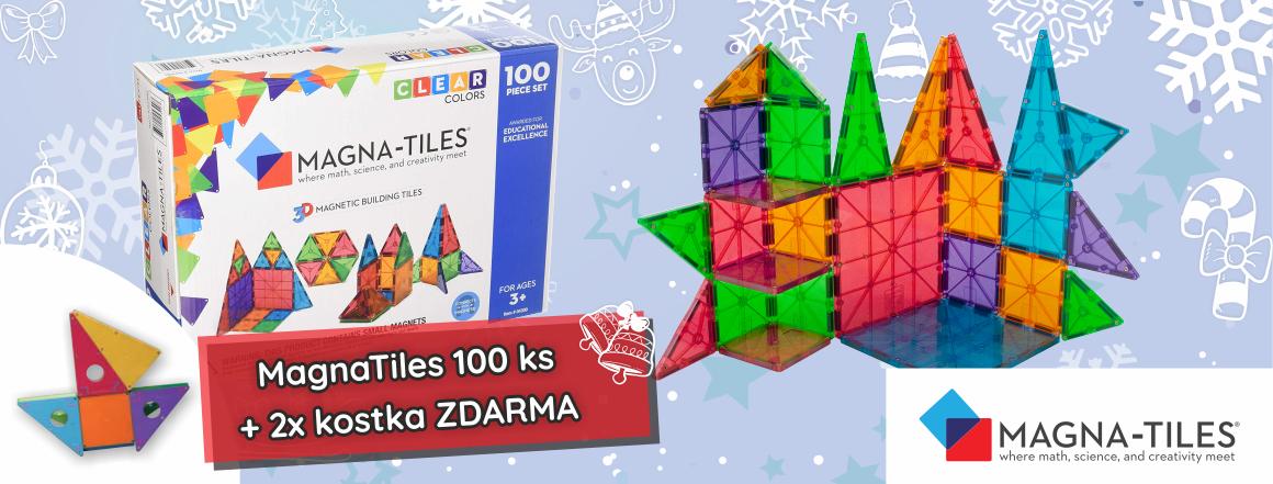 Vánoční MagnaTiles 100ks