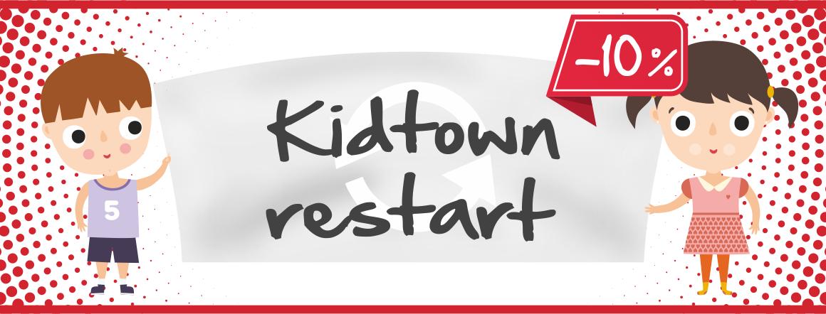 Kidtown restart - sleva 10 % na celý sortiment