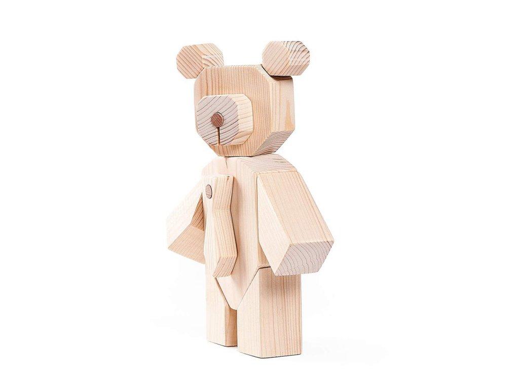 Dřevěný medvídek Bare Wood