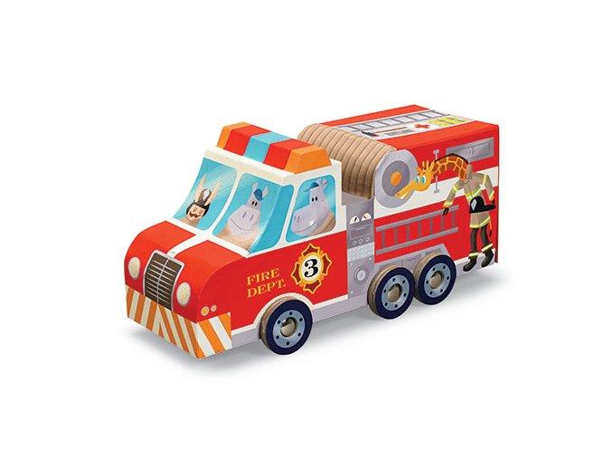 Hraj si a poskládej puzzle - hasiči