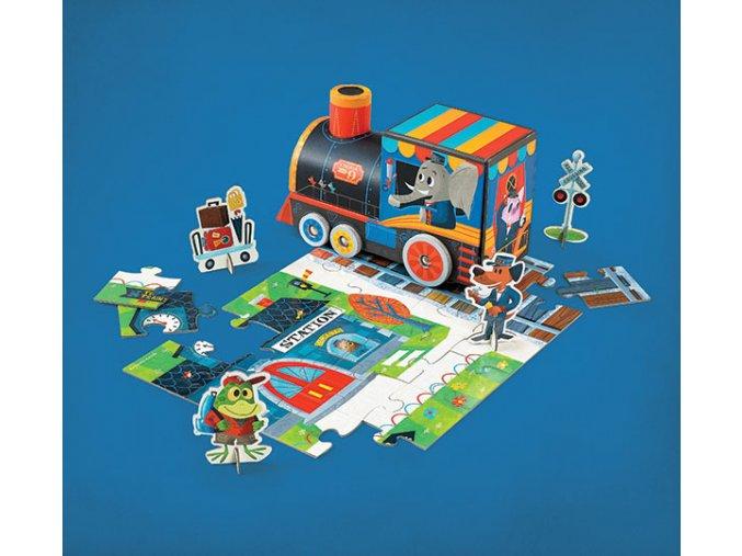 Hraj si a poskládej puzzle - vláček