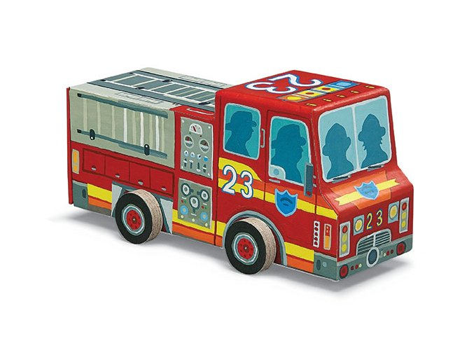 Požární auto a puzzle