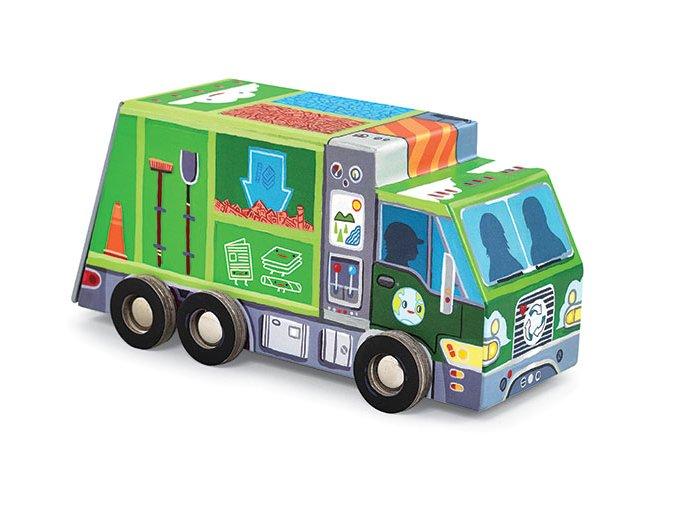 Recyklační vůz a puzzle