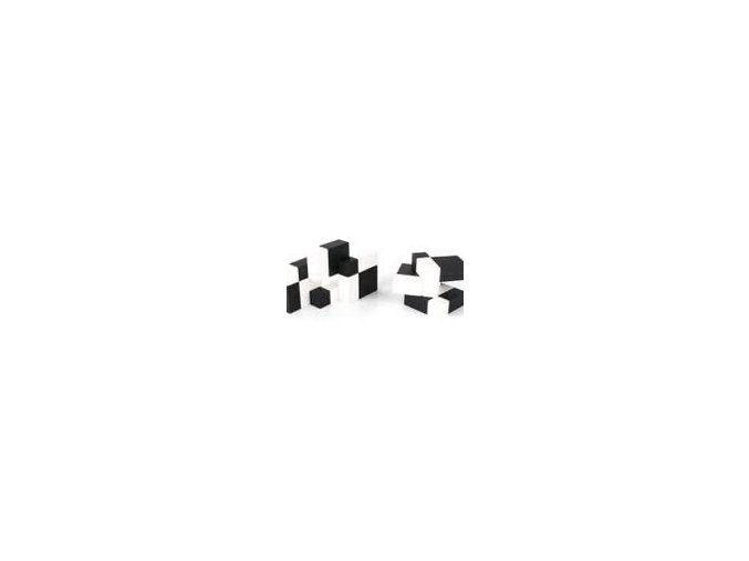 Puzzle kostka - 6x6 - černo-bílé