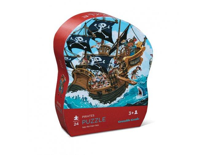 Mini puzzle - Pirátská loď (24 ks) / Mini puzzle - Pirates boat (24 pc)