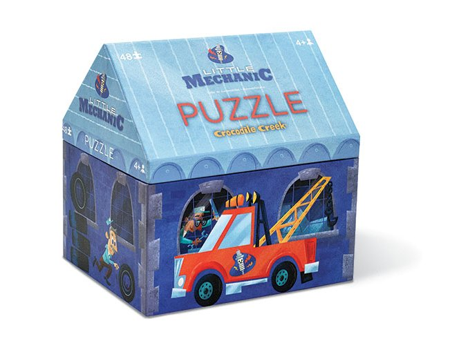 Malý mechanik puzzle autodílna