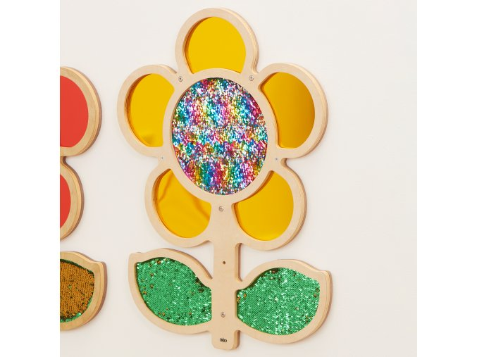 10586 mark making sequin and mirror daisy frame yellow