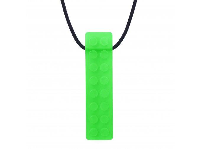 BRICK STICK žvýkací přívěsek Soft Průsvitná světle zelená