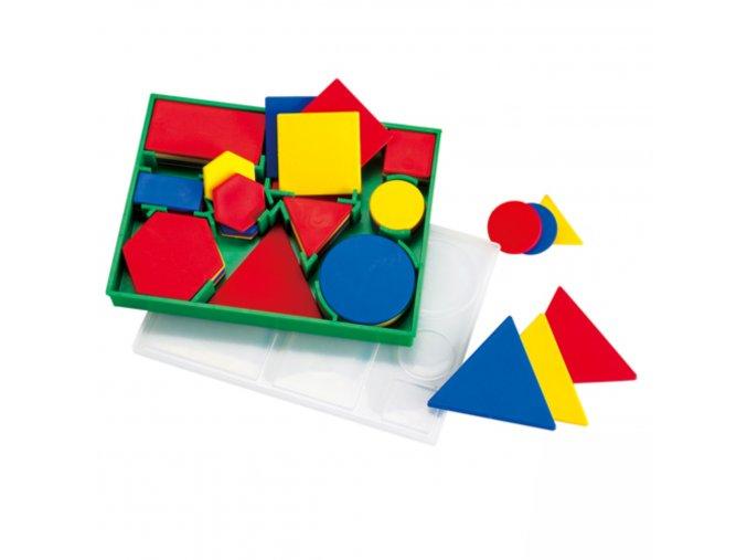 Malá sada geometrických tvarů (60 ks) / Attribute blocks pocket ( 60 pc)