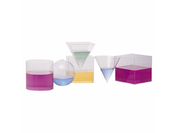 Průhledné geometrické tvary (6 ks) / Geometric volume set (6 pc)