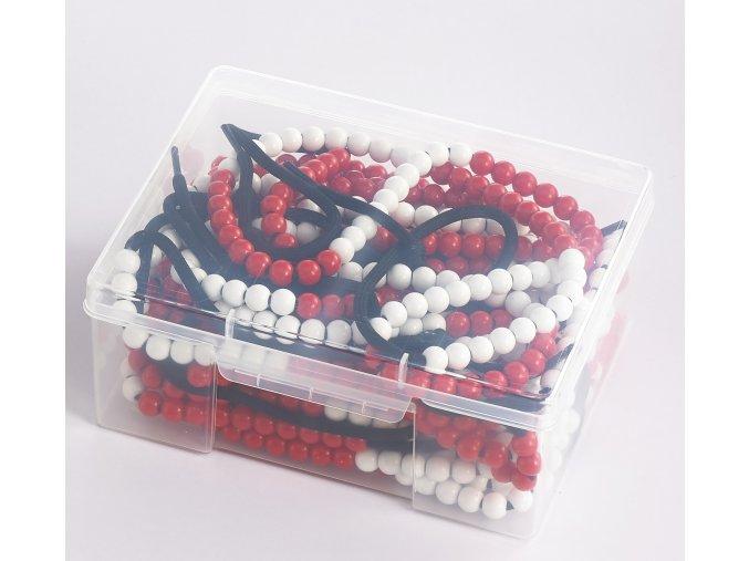 Korálky 100 ks na tkaničce (10 ks) / 100 Beads Student Beadstrings (10 pc)