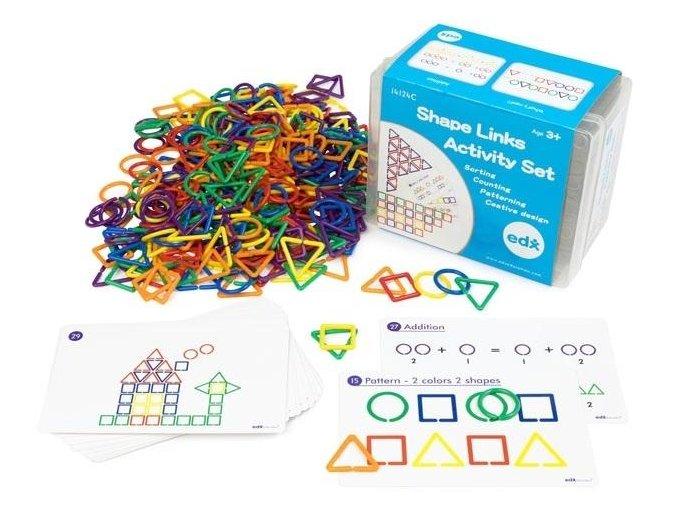 Geometrické tvary - sada aktivit ( 360 ks) / Shape Link Activity Set (360 pc)