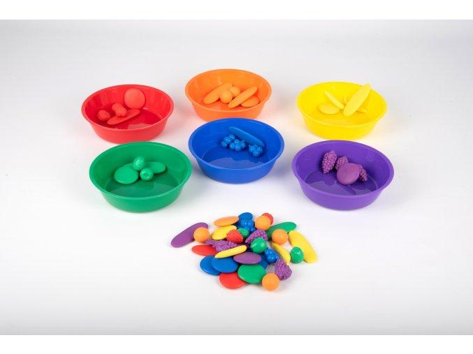 Barevné misky ke třídení (6 ks) / Coloured sorting bowls (6 pc)