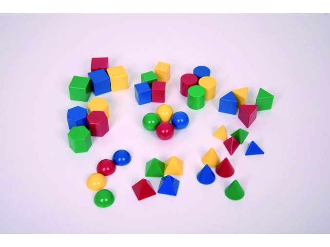 "Geometrické tvary (40 ks) / 1"" Geometric Solids (40 pc)"