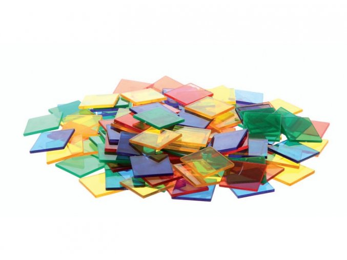 Průhledné barevné čtverce (300 ks) / Translucent colour squares (300 pc)